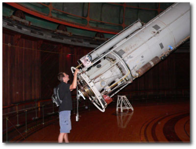 Bryan Grigsby operating the Lick Refractor
