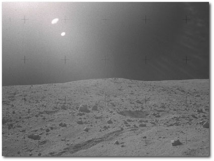 lens flare on the lunar surface