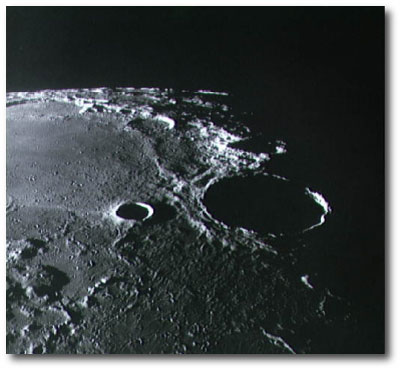 lunar farside from orbit (Apollo 11)